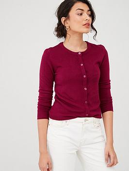 v-by-very-supersoft-crew-neck-cardigan-berry-rednbsp