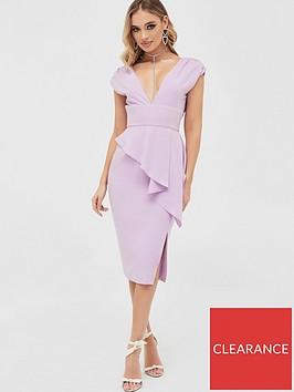lavish-alice-deep-plunge-peplum-midi-dress-lilac