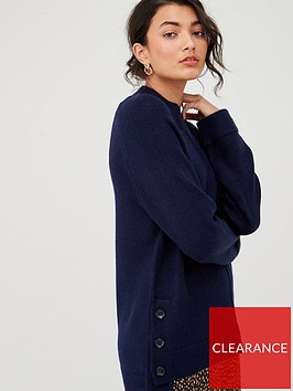 v-by-very-button-side-cuff-and-hem-jumper-navynbsp