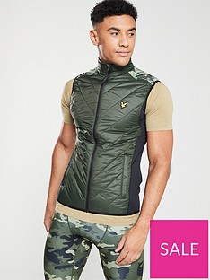 lyle-scott-fitness-brandon-chevron-gilet-deep-sprucecamo
