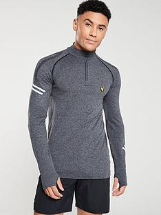 lyle-scott-fitness-seamless-quarter-zip-long-sleeved-running-t-shirt