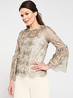 gina-bacconi-brionna-metallic-embroidered-top-gold