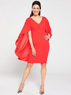gina-bacconi-danara-chiffon-cape-dress-red