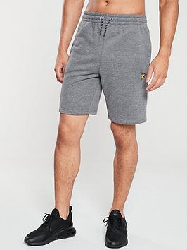 lyle-scott-fitness-fleece-shorts-mid-grey-marl