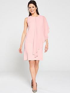 gina-bacconi-aletta-moss-crepe-and-chiffon-one-sleeve-dress-pink