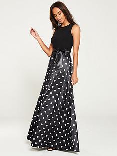 gina-bacconi-ilythia-satin-polka-dot-maxi-dress-black