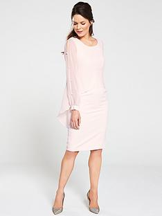 gina-bacconi-anushka-ciffon-cape-pearl-detail-dress-pink