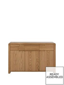 julian-bowen-newman-curve-ready-assembled-solid-oak-and-oak-veneer-sideboard