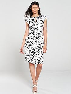 gina-bacconi-minako-zebra-print-pencil-dress-whiteblack