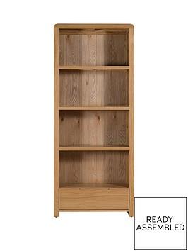 julian-bowen-newman-curve-ready-assembled-solid-oak-and-oak-veneer-bookcase