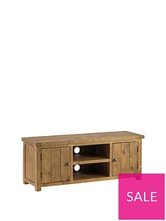 Julian Bowen Aspen Solid Pine Ready Assembled TV Unit - 54 inch