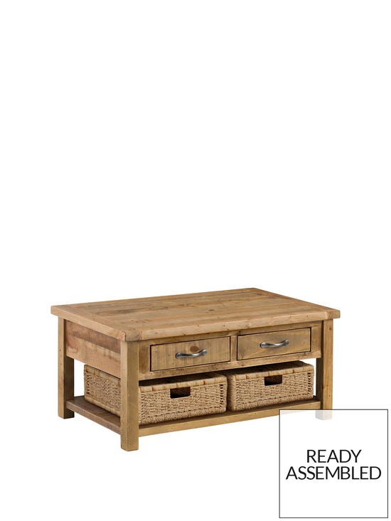 Solid Pine Coffee Table.Aspen Solid Pine Coffee Table
