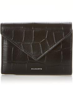 allsaints-polly-printed-croc-purse-black