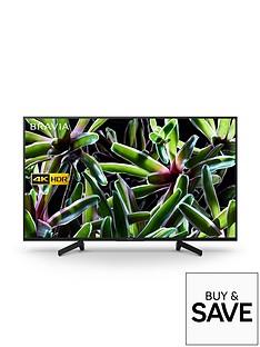 Sony BRAVIA KD43XG70, 43 inch, 4K Ultra HD, HDR, Smart TV - Black