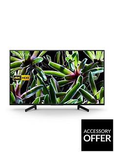 Sony BRAVIA KD49XG70, 49 inch, 4K Ultra HD, HDR, Smart TV - Black