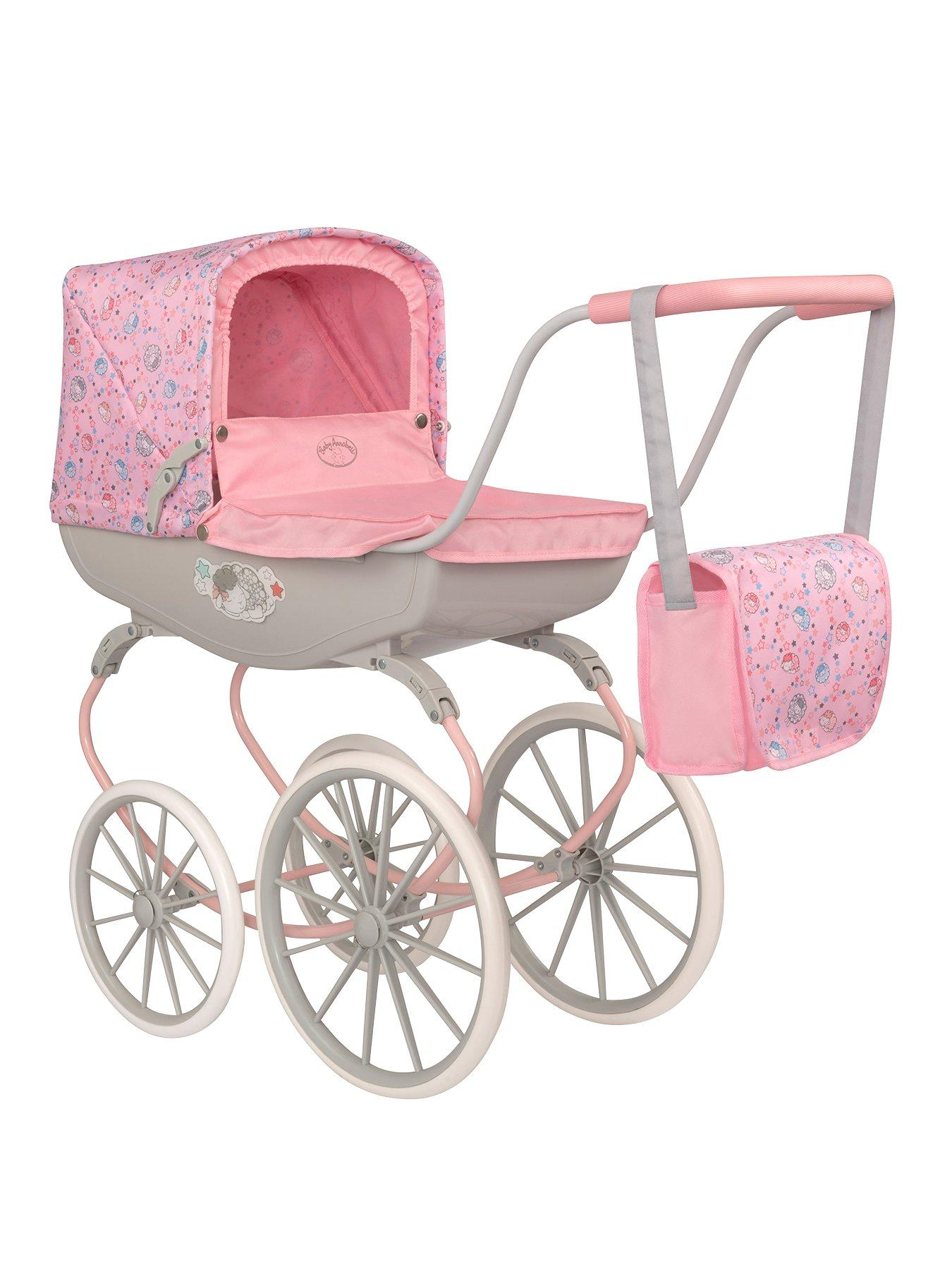 DOLLS PRAM BLANKET /& PILLOW COT BEDDING SET PURPLE VINTAGE FLORAL BABY ANNABELL