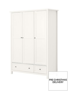 Julian Bowen Maine 3 Door Combination Wardrobe