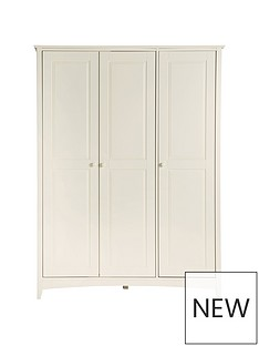 Julian Bowen Cameo 3 Door Wardrobe with Fitted Interior