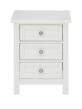 Julian Bowen Maine 3 Drawer Bedside Chest