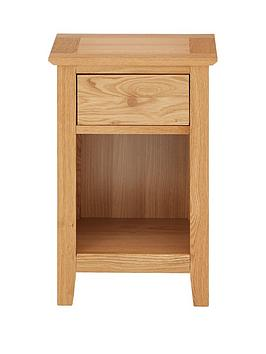 Julian Bowen Salerno 1 Drawer Bedside Chest