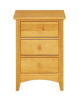 Julian Bowen Kendal Solid Pine 3 Drawer Bedside Chest