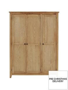Julian Bowen Marlborough 3 Door Wardrobe with Fitted Interior