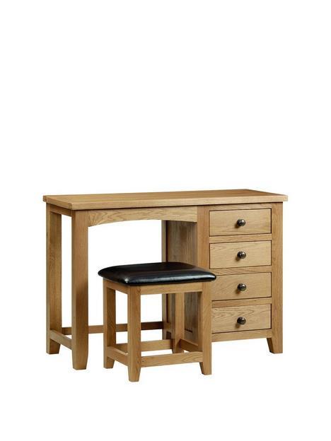 julian-bowen-marlboroughnbspsolid-oakoak-veneer-single-pedestal-dressing-table-and-stool-set