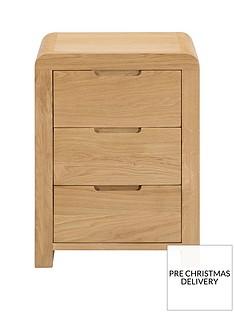 Julian Bowen Newman Curve 3 Drawer Bedside Cabinet