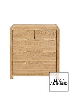 Julian Bowen Newman Curve 3 + 2 Drawer Chest