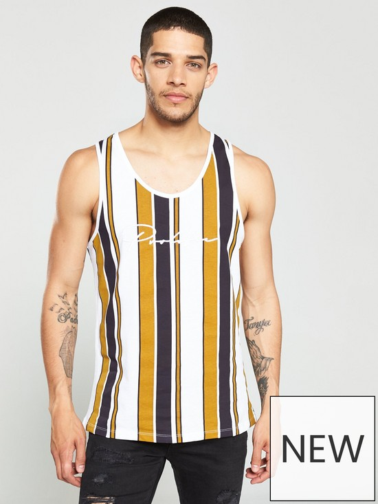 6dc8b5671 River Island Yellow 'Prolific' Stripe Slim Fit Vest | very.co.uk