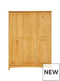 Julian Bowen Kendal 3 Door Wardrobe with Fitted Interior