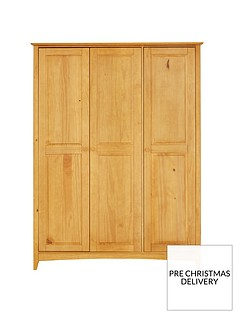 Julian Bowen Kendal 3 Door Wardrobe with Fitted Interior