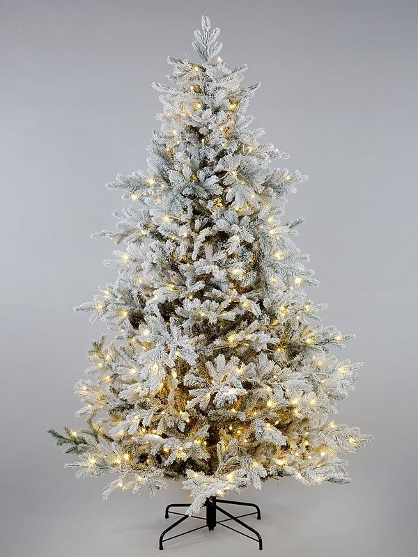 big sale f9026 7deff Pre-Lit Frosted Real-Look Bell-Shaped Christmas Tree - 6ft