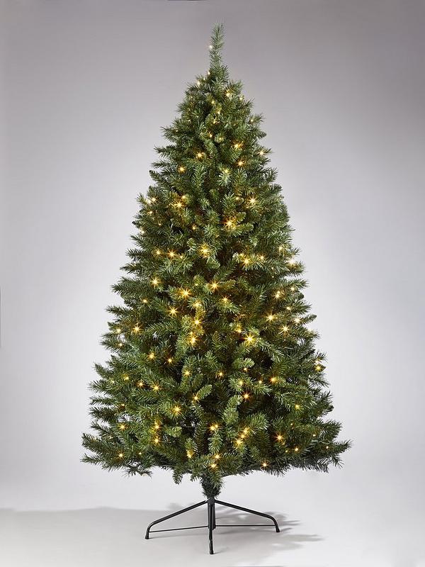 7ft Christmas Tree.Regal Multifunction Pre Lit Christmas Tree 7ft