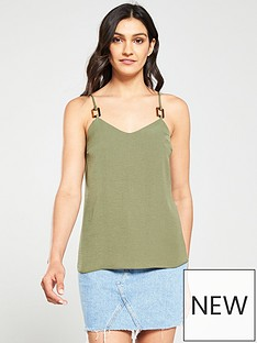 v-by-very-horn-detail-cami-top-khakinbspbr-br