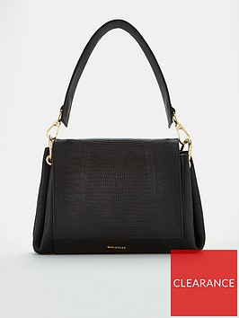 whistles-edison-lizard-leather-shoulder-bag-black