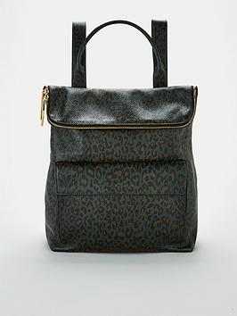 whistles-verity-leather-leopard-backpack-green