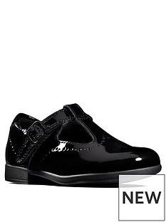 863ad4941665 Clarks Girls Scala Seek T-bar School Shoe