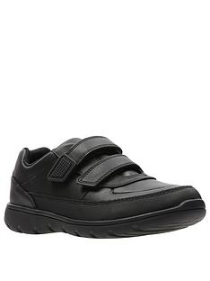 clarks-venture-walk-strap-shoes-black-leather