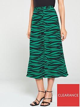 whistles-tiger-print-button-through-skirt-green-multi