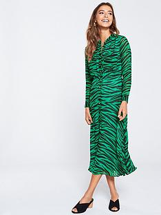 whistles-carys-tiger-shirt-dress-greenmulti
