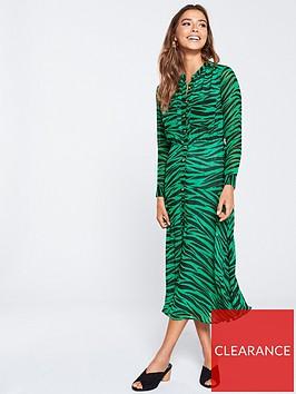 whistles-carys-tiger-shirt-dress-greenmulti