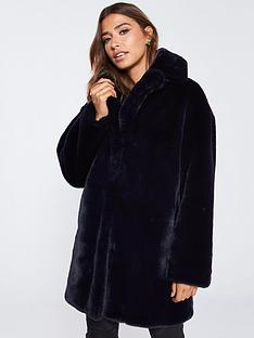 whistles-frankie-faux-fur-coat-navy