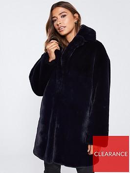 whistles-frankie-faux-fur-coat-navy