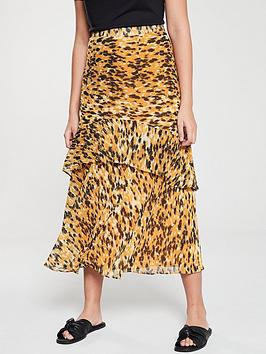 whistles-ikat-animal-nora-skirt-yellowmulti