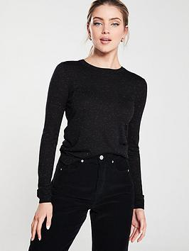 whistles-annie-sparkle-knit-top-black