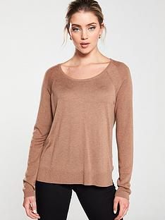 whistles-scoop-neck-knit-jumper-camel