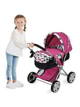 hauck-diana-2-in-1-pram-and-carry-cot--pink-dot