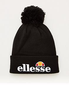 ellesse-velly-pom-pom-beanie-hat-black