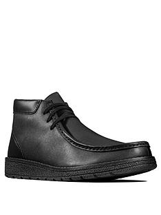 clarks-youth-mendip-loop-lace-up-boots-black